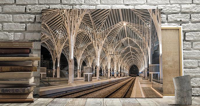 Obraz dworzec w Lizbonie