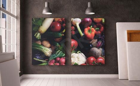 Obraz dyptyk z warzywami