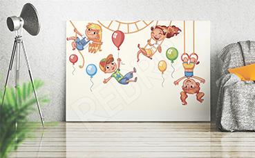 Obraz dzieci i balony