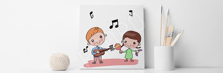 Obraz dziecięca muzyka