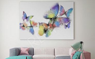 Obraz dziecięcy kolorowe motyle