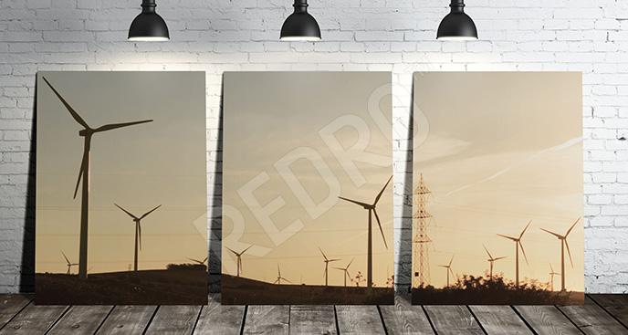 Obraz elektrownia wiatrowa