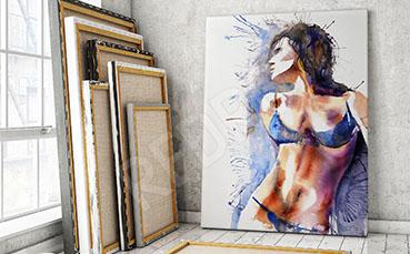 Obraz erotyczny kobieta w bieliźnie