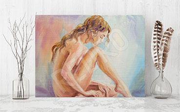 Obraz erotyczny naga kobieta