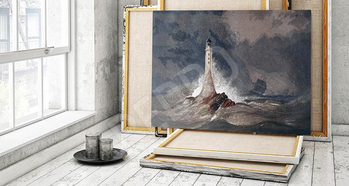 Obraz fale sztormowe