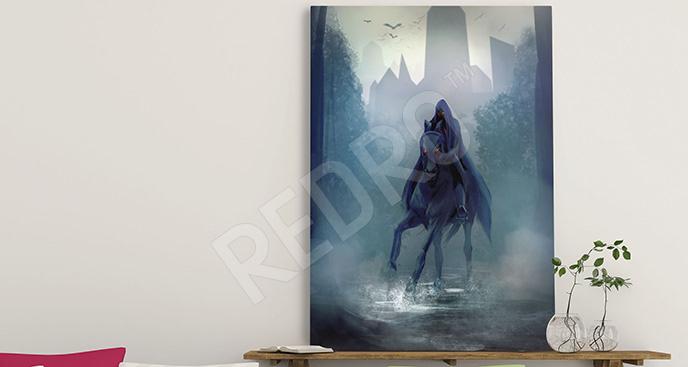 Obraz fantasy tajemnicza postać