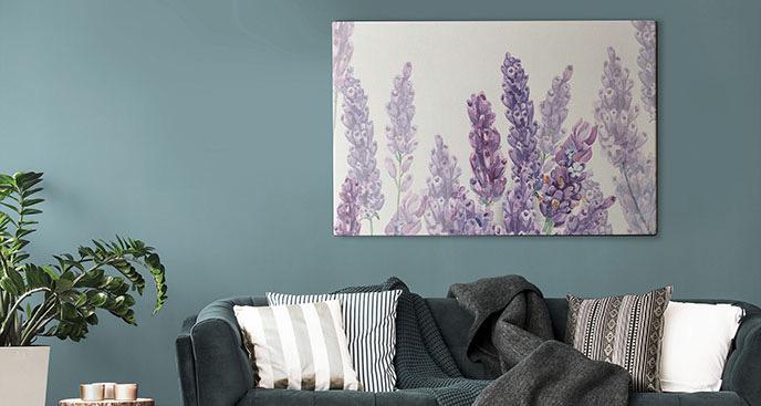 Obraz fioletowe kwiaty