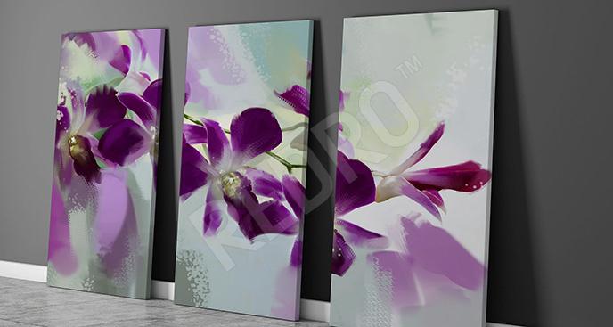 Obraz fioletowe storczyki