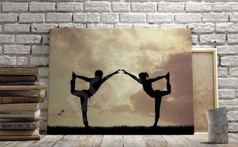 Obraz fitness ćwicząca para