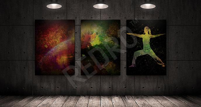 Obraz fitness kolory