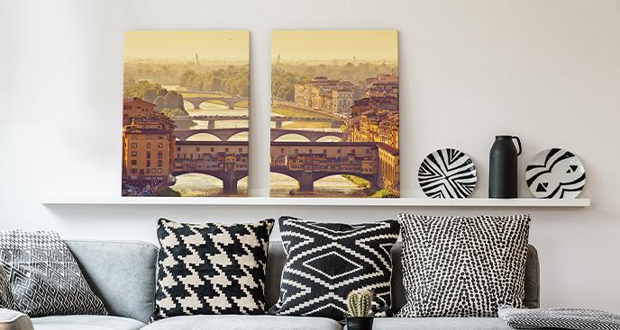 Obraz Florencja o zachodzie słońca