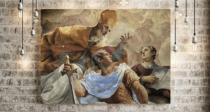 Obraz freski kościoła we Florencji
