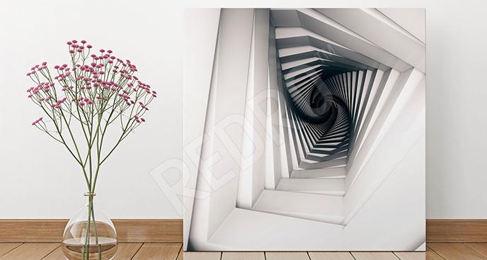 Obraz futurystyczna spirala