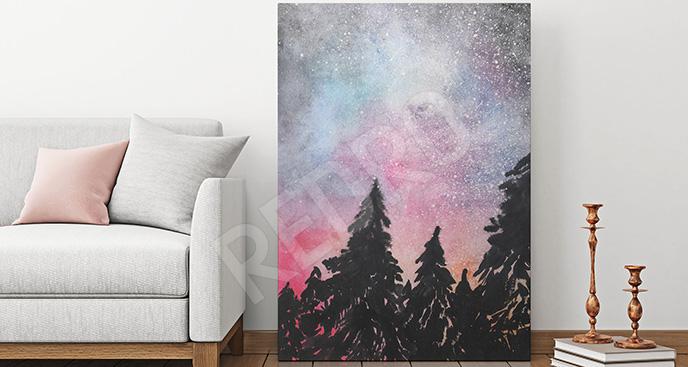 Obraz galaktyka i las