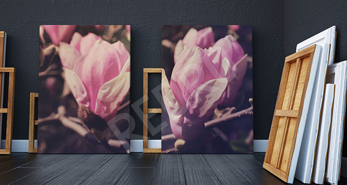 Obraz gałąź magnolii
