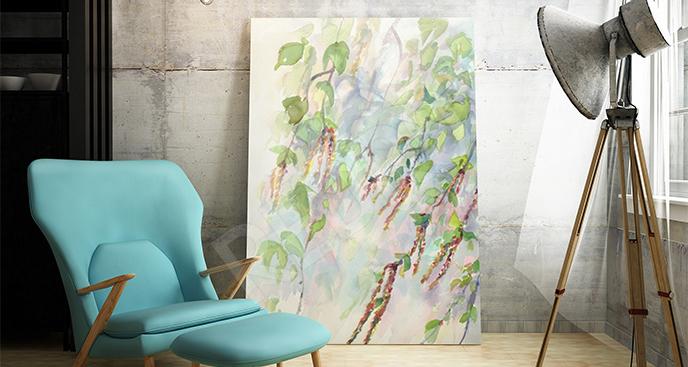 Obraz gałęzie i kwiatostany