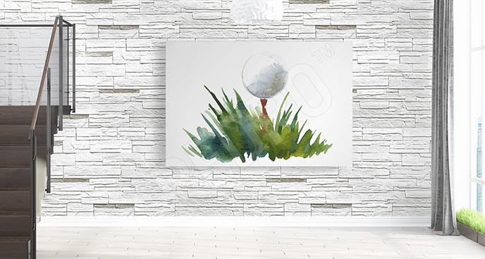 Obraz golf akwarela
