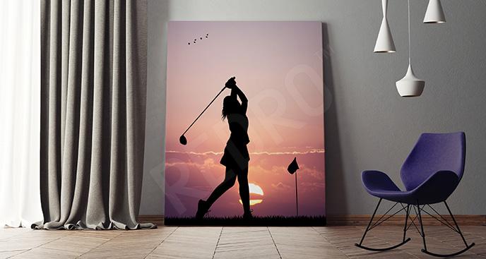 Obraz golfistka