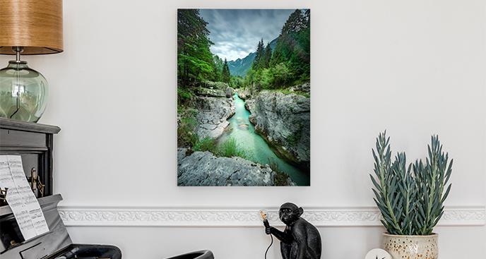 Obraz krajobraz z lasem