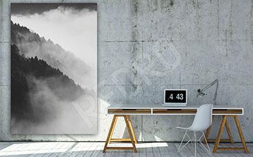 Obraz góry czarno-białe