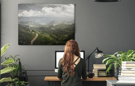 Obraz góry i doliny