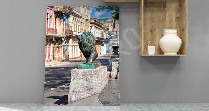 Obraz Hawana: posąg lwa