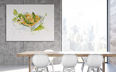 Obraz ilustracja potrawy