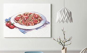 Obraz ilustracja spaghetti