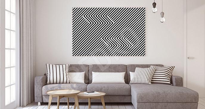Obraz iluzja optyczna minimal