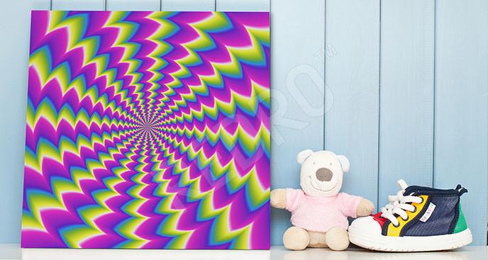 Obraz iluzja optyczna spirala