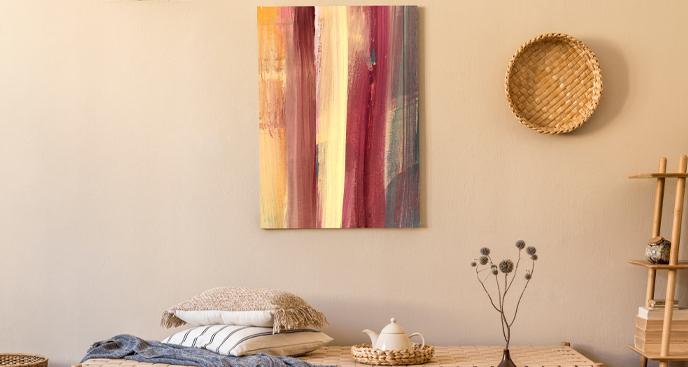 Obraz kolorowe kreski
