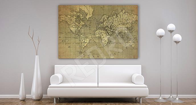 Obraz imitacja starej mapy