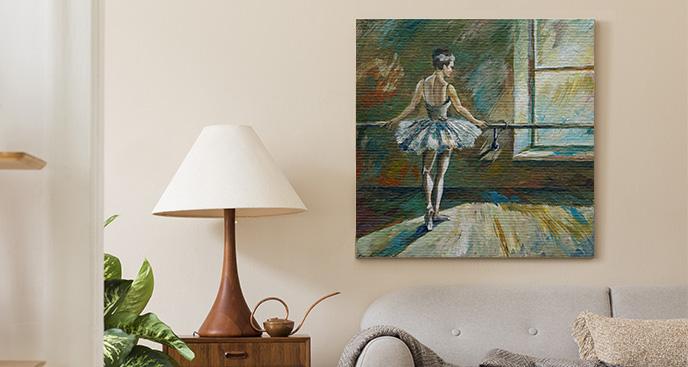 Obraz impresjonizm i balerina