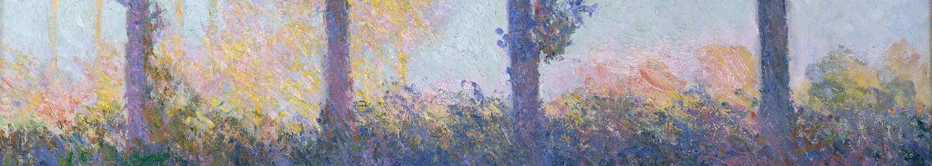 Obraz impresjonizm i cztery drzewa