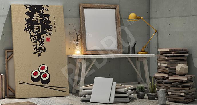 Obraz japońskie menu