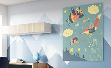 Obraz jesieni do pokoju dziecięcego