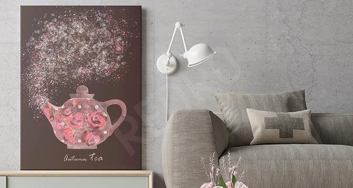 Obraz jesienna herbatka