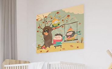 Obraz jesienna przygoda dzieci
