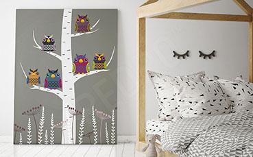 Obraz jesienne drzewko dla dzieci