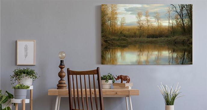 Obraz jesienny krajobraz