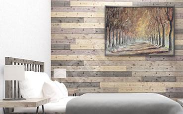 Obraz jesienny las do sypialni