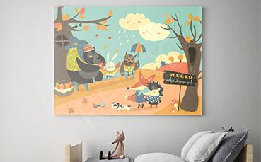 Obraz jesienny motyw dla dziecka