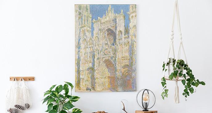Obraz katedra w Rouen