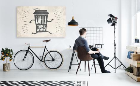 Obraz kawa na wynos
