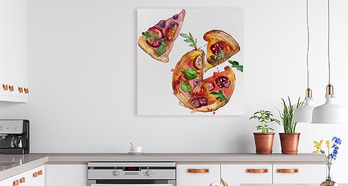 Obraz kawałki pizzy