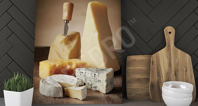 Obraz kawałki sera do kuchni
