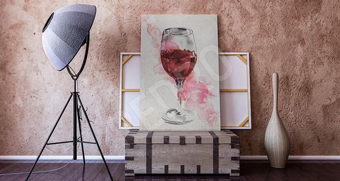 Obraz kieliszek czerwonego wina