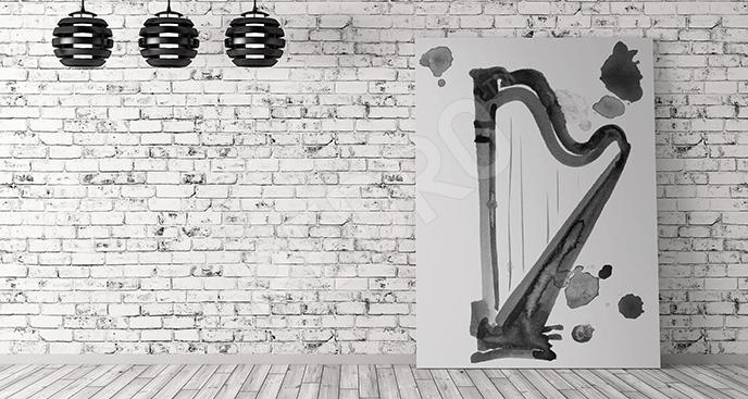 Obraz klasycyzm harfa