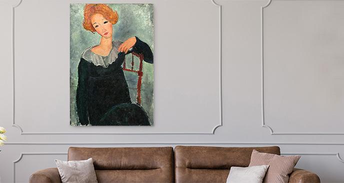 Obraz Kobieta z rudymi włosami