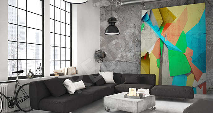 Obraz kolorowa abstrakcja